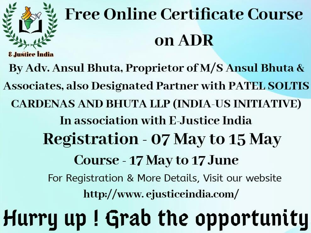 free-certificate-course-on-adr-by-recognized-lawyer-firm