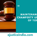 Maintenance and Champerty