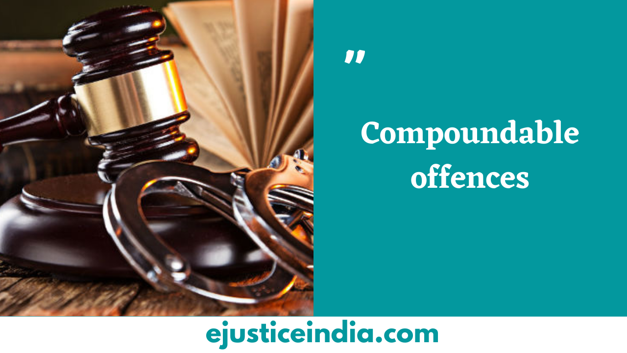 Compoundable offences