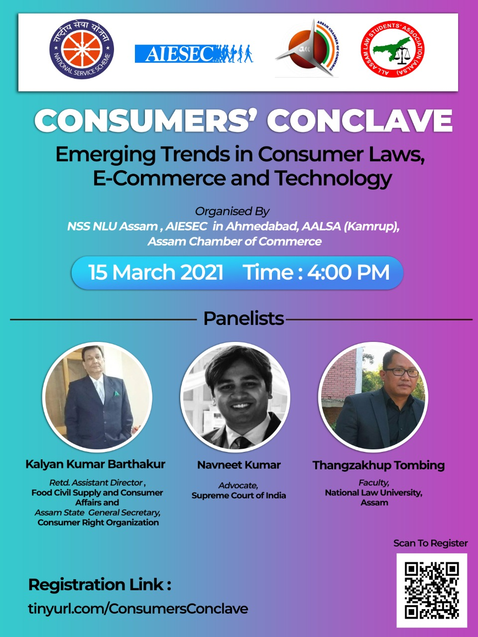 Consumers' Conclave by NSS NLU Assam on 15 March 2021: Register Now