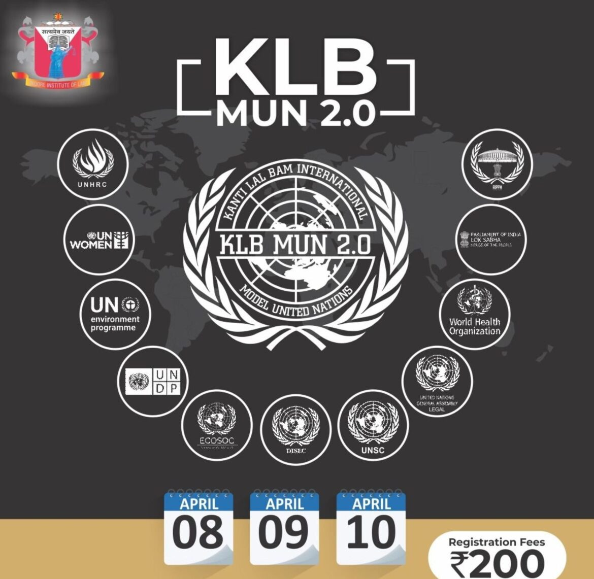 Indore Institute of Law is Organizing Kanti Lal Bam Model United Nation 2.0