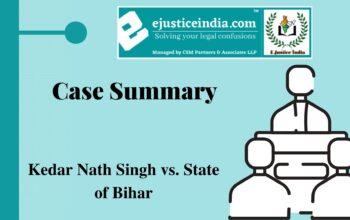 Kedar Nath Singh vs. State of Bihar