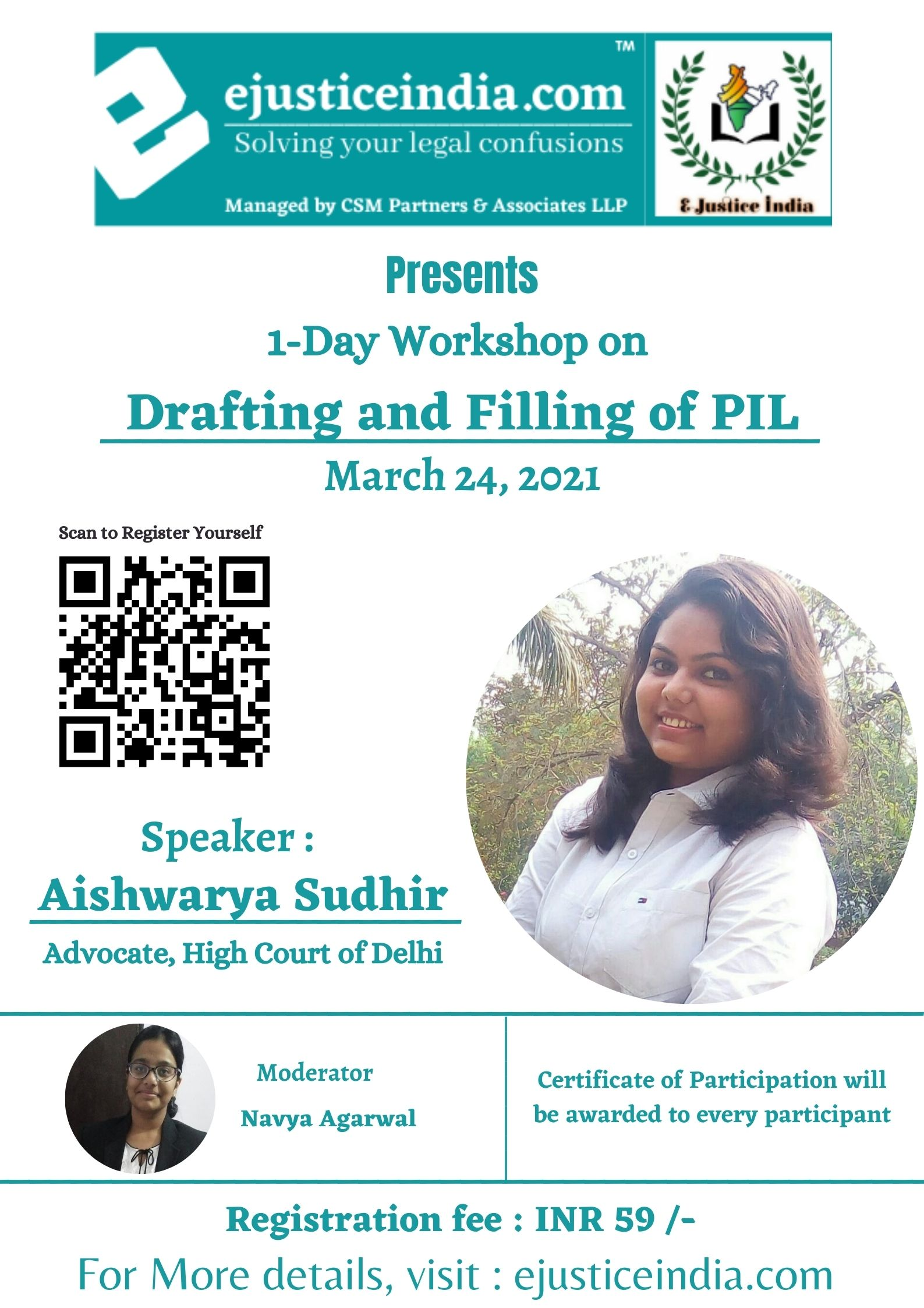 Workshop on Drafting and Filing of PIL