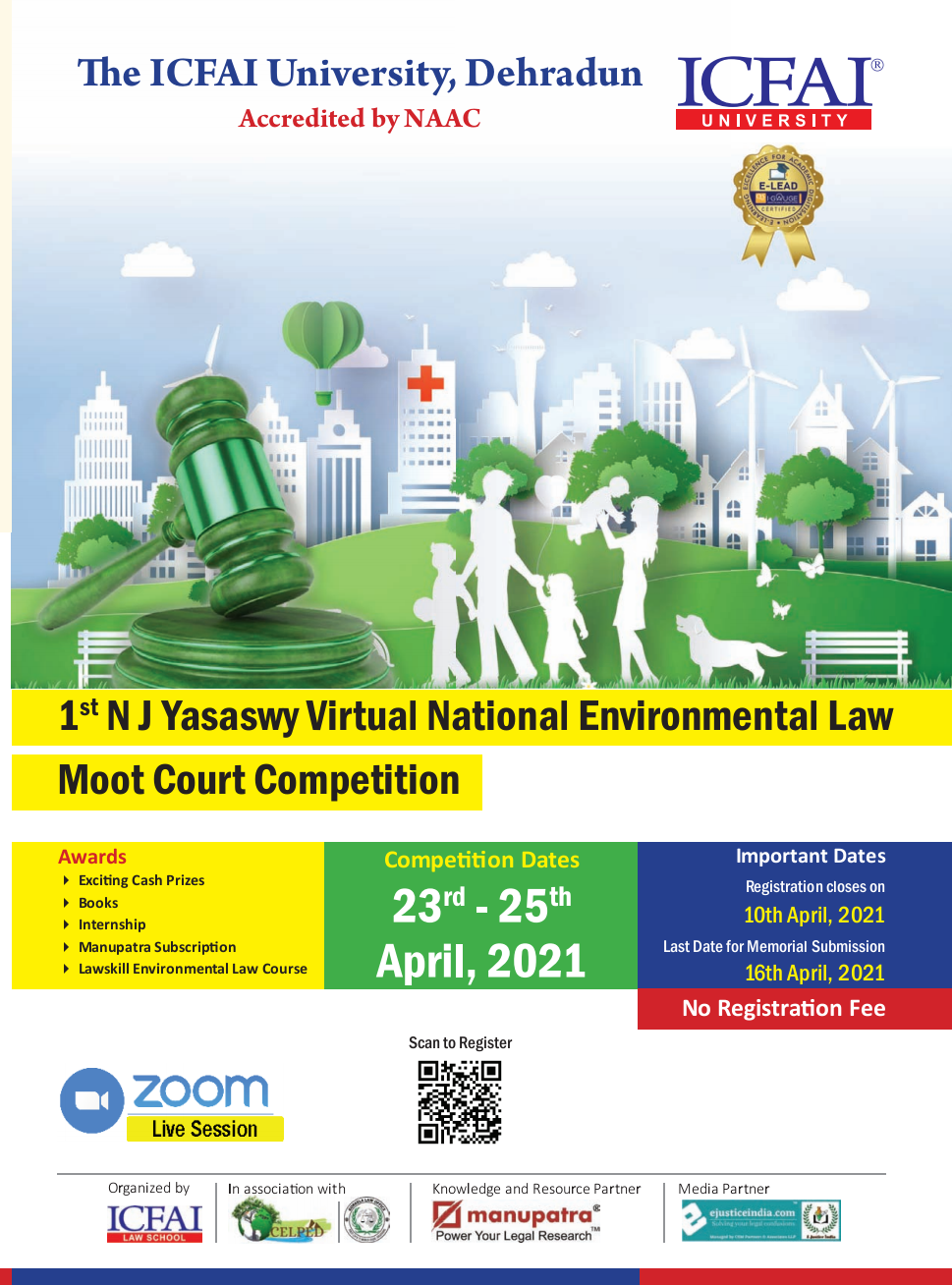 The ICFAI University Dehradun National Environmental Law Moot Court Competition, 2021: Register by 10th April