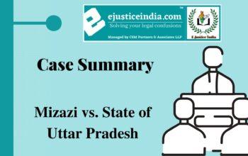 Mizazi vs. State of Uttar Pradesh