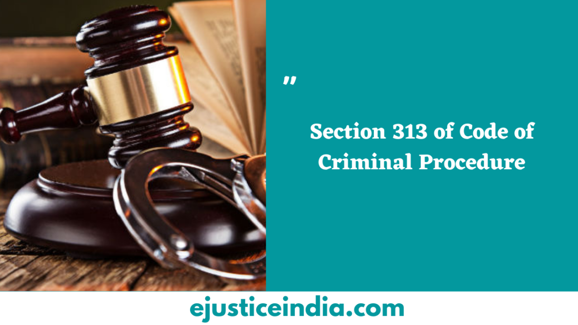 Section 313 of Code of Criminal Procedure