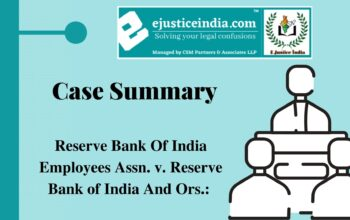 Reserve Bank Of India Employees Assn. v. Reserve Bank of India And Ors.