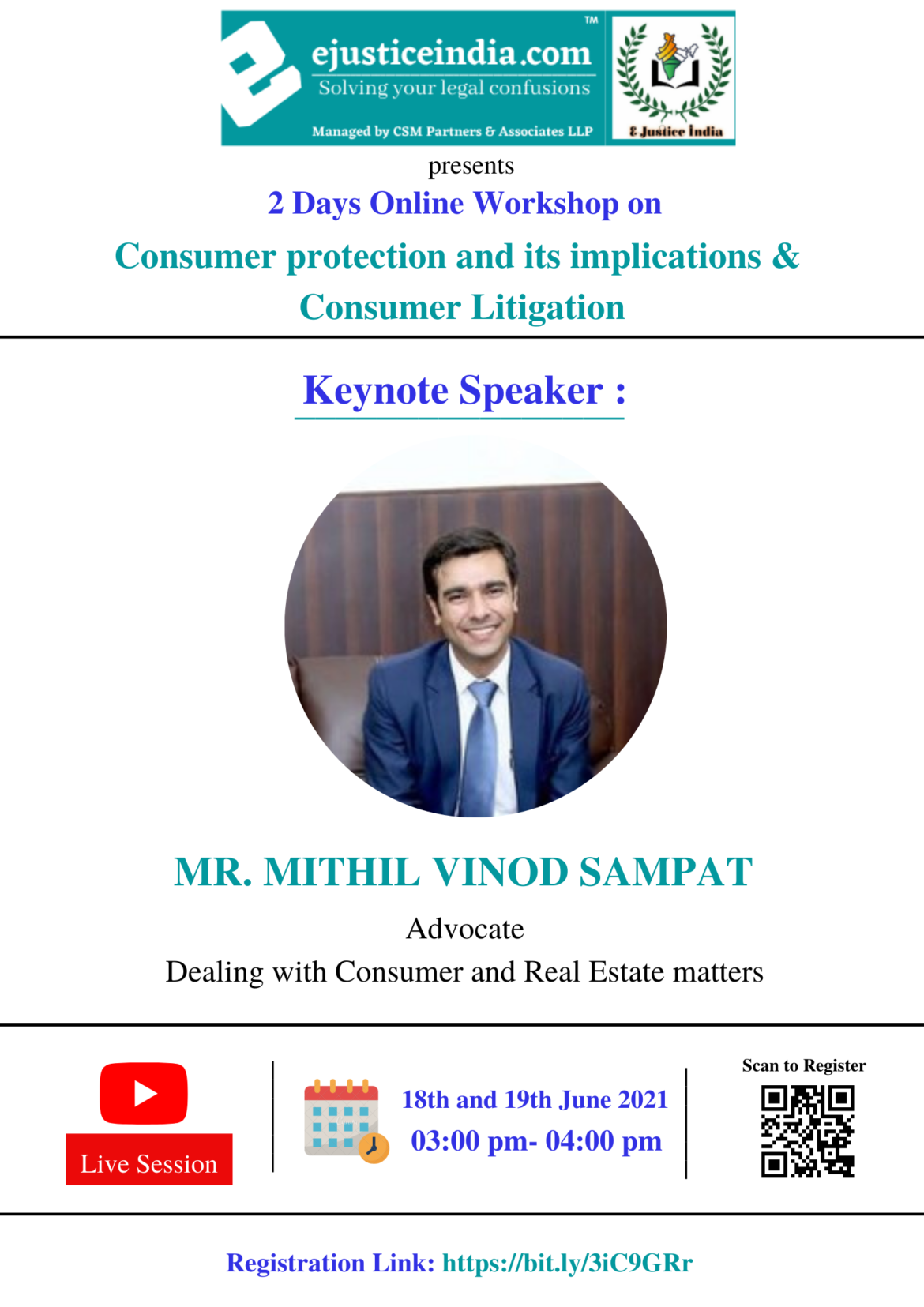 2 Days Free Online Workshop on Consumer protection and its implications & Consumer Litigation