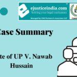 State of UP V. Nawab Hussain